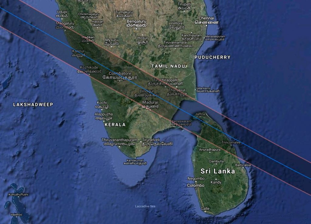 Annular Solar Eclipse 2019 - India and SriLanka