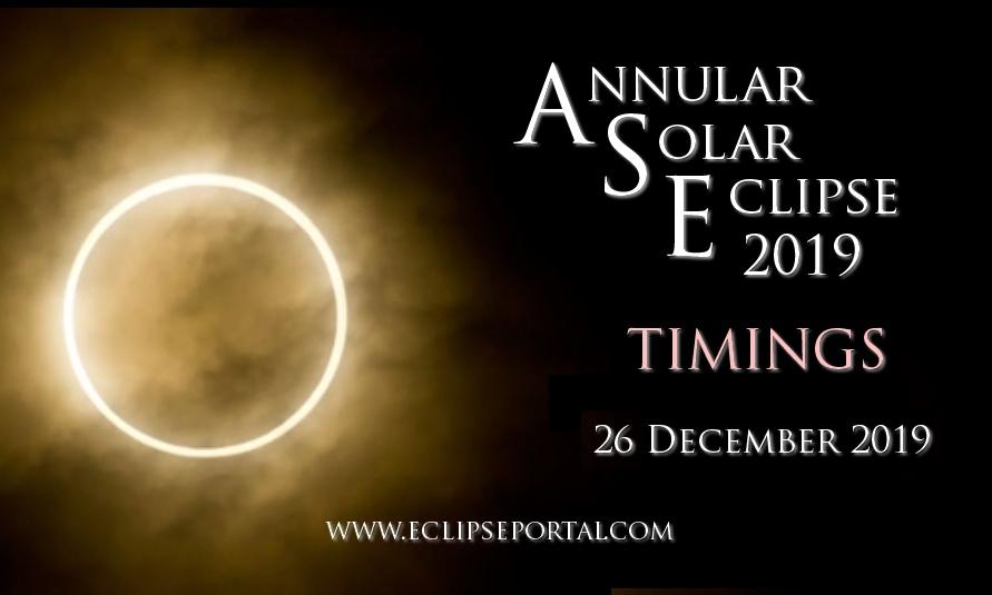 Annular Solar Eclipse 2019 Timings
